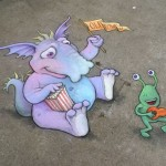 Amazing Side Walk Chalk Art <3