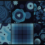 I'm Blu Seamless Pattern Set