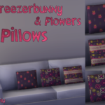 Freezerbunny & Flowers Sofa Pillows