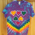 Small Hearts Batik Tie Dye Shirt