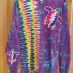 Large Grateful Turtle Batik Tie Dye Long Sleeve ⋆ Violablu's Tie Dyes